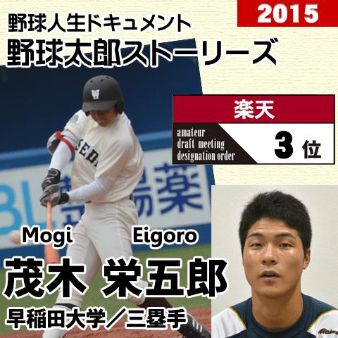 《野球太郎ストーリーズ》楽天2015年ドラフト3位、茂木栄五郎。衝撃の一発を放つアマ球界屈指のバットマン