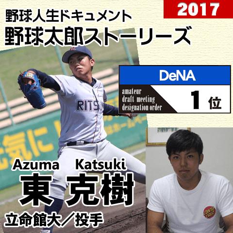 《野球太郎ストーリーズ》DeNA2017年ドラフト1位、東克樹。最速152キロを誇る日米大学野球最優秀投手(1)